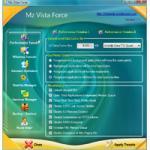 Screenshot programu Mz Vista Force 3.1.0