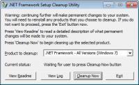 Screenshot programu .NET Framework Cleanup Tool 09-10-2011