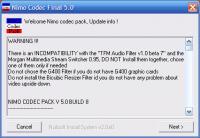 Screenshot programu Nimo Codec Pack  5.0.9 Beta 1