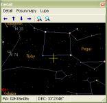Screenshot programu Noční obloha 1.5