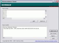 Screenshot programu Norman Malware Cleaner 2.08.08 (2014.08.29)