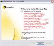 Screenshot programu Norton Removal Tool 22.5.0.17