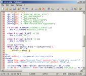 Screenshot programu Notepad2 4.2.25