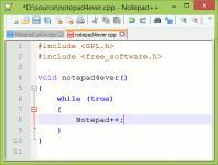 Screenshot programu Notepad++ 6.8.8 Portable