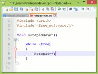 Screenshot programu Notepad++ 6.8.8