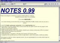 Screenshot programu Notes 0.99