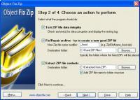 Screenshot programu Object Fix Zip 1.7