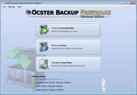 Screenshot programu Ocster Backup Freeware 1.99