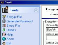Screenshot programu Omziff 3.2