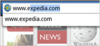 Screenshot programu Opera Mobile 12