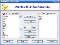Screenshot programu Outlook Attachments 6.0