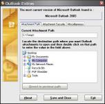 Screenshot programu Outlook Extras 2.0
