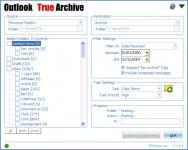 Screenshot programu Outlook True Archive 1.4.0