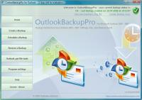 Screenshot programu OutlookBackupPro 1.0 Build 1040