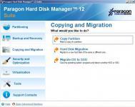 Screenshot programu Paragon Hard Disk Manager 12 Suite 10.0.19 Build 15177