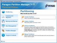 Screenshot programu Partition Manager 11 Personal