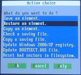 Screenshot programu Partition Saving 4.20