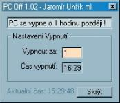 Screenshot programu PC Off 1.02