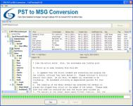 Screenshot programu PDS PST to MSG Conversion 5.0