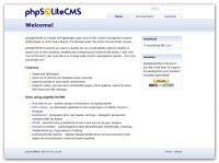 Screenshot programu Phpsqlitecms 2.0.4