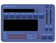 Screenshot programu PicoPhone 1.65
