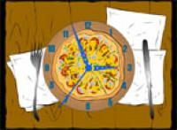 Screenshot programu Pizza Clock Screensaver 1.1