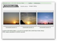 Screenshot programu PK phpmygallery 1.51.010