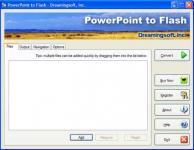 Screenshot programu PowerPoint to Flash 2.5