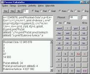 Screenshot programu Precizní kalkulačka 2.5