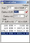 Screenshot programu Převod měny 0.12