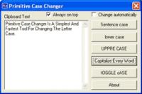 Screenshot programu Primitive Case Changer 1.29