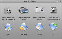 Screenshot programu Quick DVD Creator 5.00
