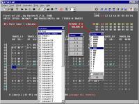 Screenshot programu Raster Music Tracker (RMT) 1.23