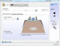 Screenshot programu Realtek HD Audio Codecs R2.66