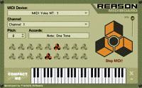 Screenshot programu Reason MIDI Board 1.1