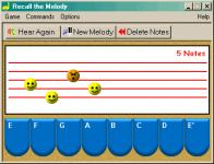 Screenshot programu Recall the Melody 1.0