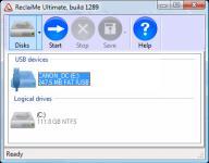 Screenshot programu ReclaiMe 2.0 Build 1458