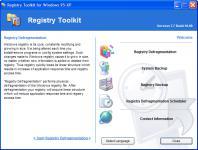 Screenshot programu Registry Defragmentation 9.3 Build 06.08
