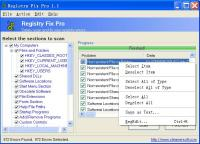 Screenshot programu Registry Fix Pro 1.1