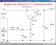 Screenshot programu Regulovaný zdroj