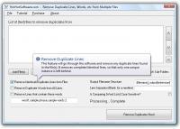 Screenshot programu Remove Duplicate Lines 2.0