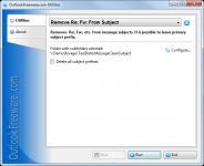 Screenshot programu Remove Re Fw From Subject 2.3
