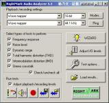 Screenshot programu RightMark Audio Analyzer 6.4.1