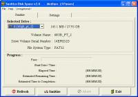 Screenshot programu Sanitize Disk Space 2.0f