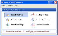 Screenshot programu Sateira CD&DVD Burner 2.8