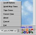 Screenshot programu Scroll Clock 2.0