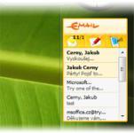 Screenshot programu Seznam Email - gadget