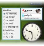 Screenshot programu Seznam Hledání - gadget