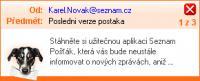 Screenshot programu Seznam Pošťák 3.0.0