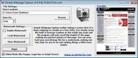 Screenshot programu Simple Webpage Capture 1.0.0